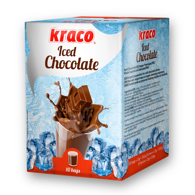 Instant preparation for cold milk chocolate