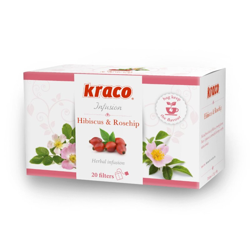 Hibiscus & Rosehips flavoured infusion