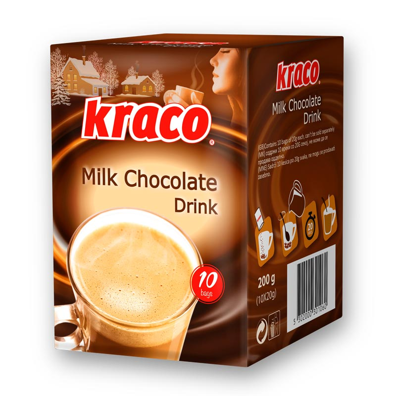 Instant preparation for hot milk chocolate