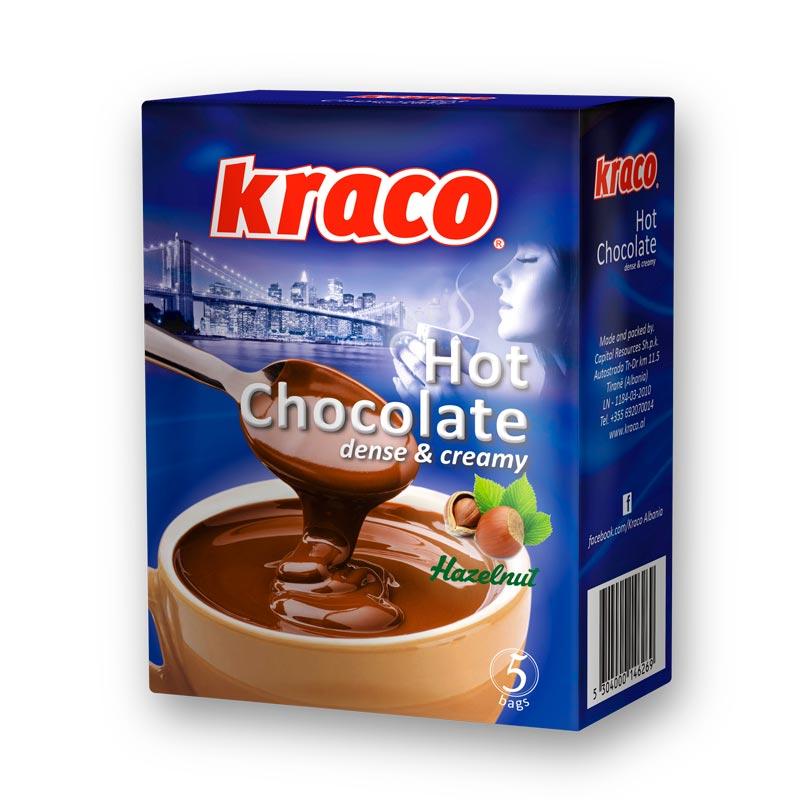 Hot chocolate dense & cream (hazelnuts)