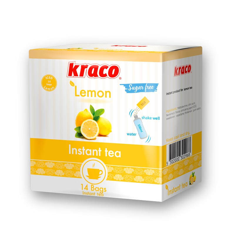 Instant preparation for hot tea lemon flavoured