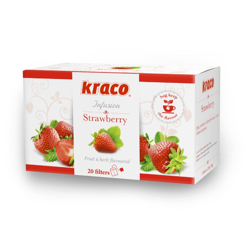 Strawberry flavoured fruit infusion