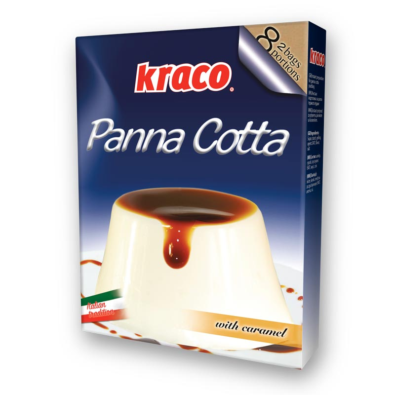 Instant preparation for panna cotta taste pudding