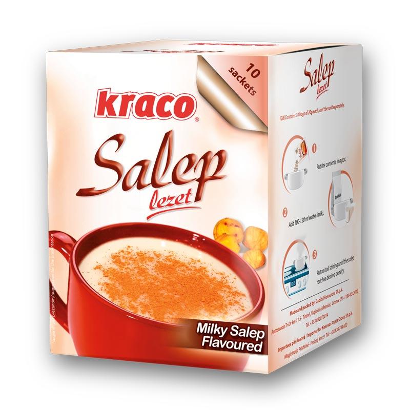 Instant preparation for hot salep