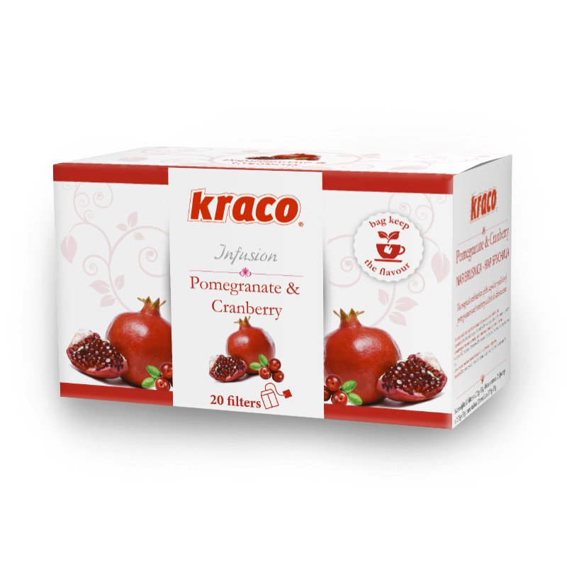 Cranberry & Pomegranate flavoured fruit infusion