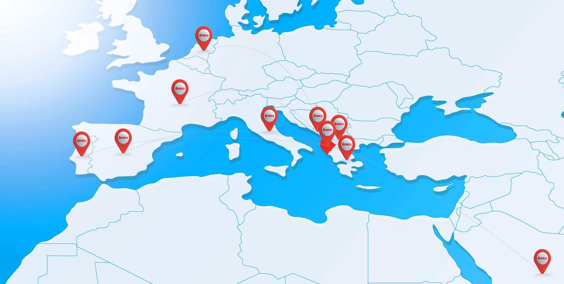 global footprint map kraco